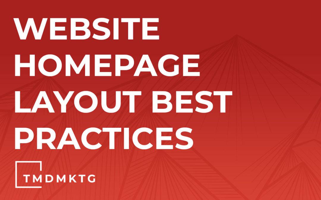 Website Homepage Layout Best Practices